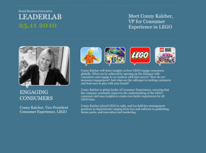 LEGO open innovation co-creation & mass-customization