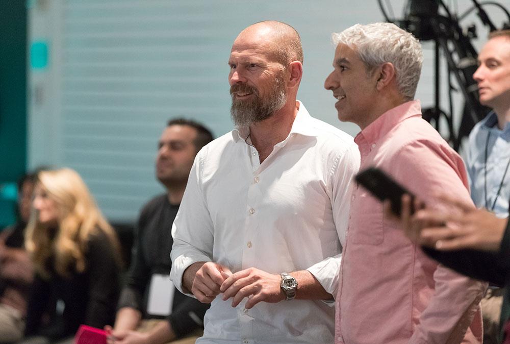 Claus Stig Pedersen Novozymes and Cyrus Wadia Nike